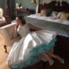 Doris Designs - Aquamarine Petticoat Underskirt Model 4