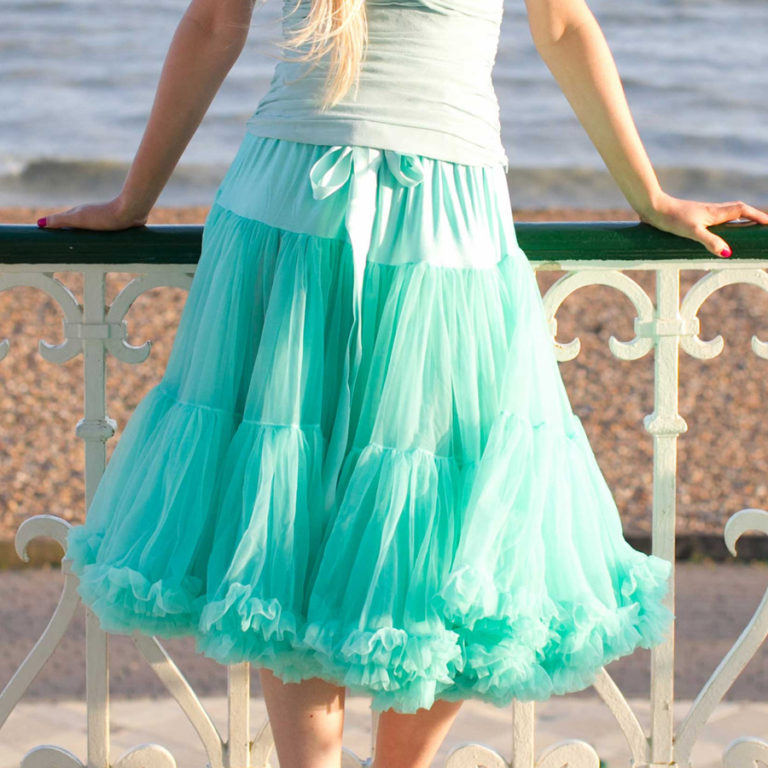 Doris Designs - Aquamarine Petticoat Underskirt Model