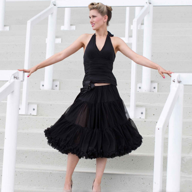 Doris Designs - Black Petticoat Underskirt Model