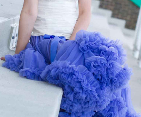 Doris Designs - Bluebell Purple Petticoat Underskirt Model 2