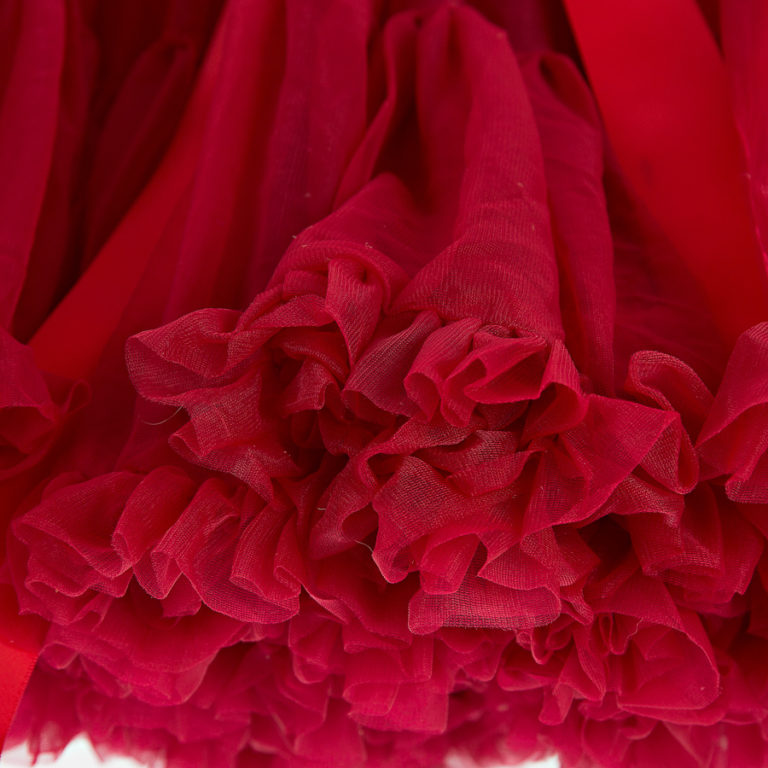 Doris Designs - Blush Red Petticoat Underskirt Closeup