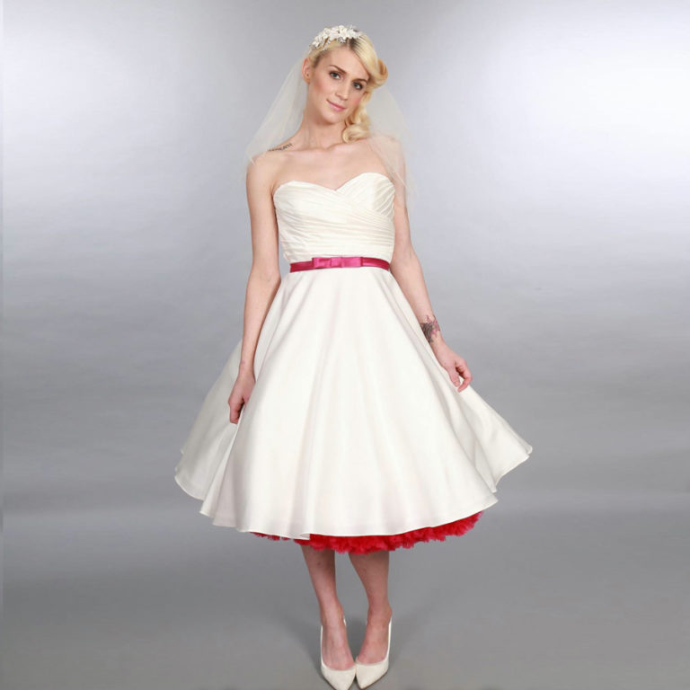 Doris Designs - Blush Red Petticoat Underskirt Model 3