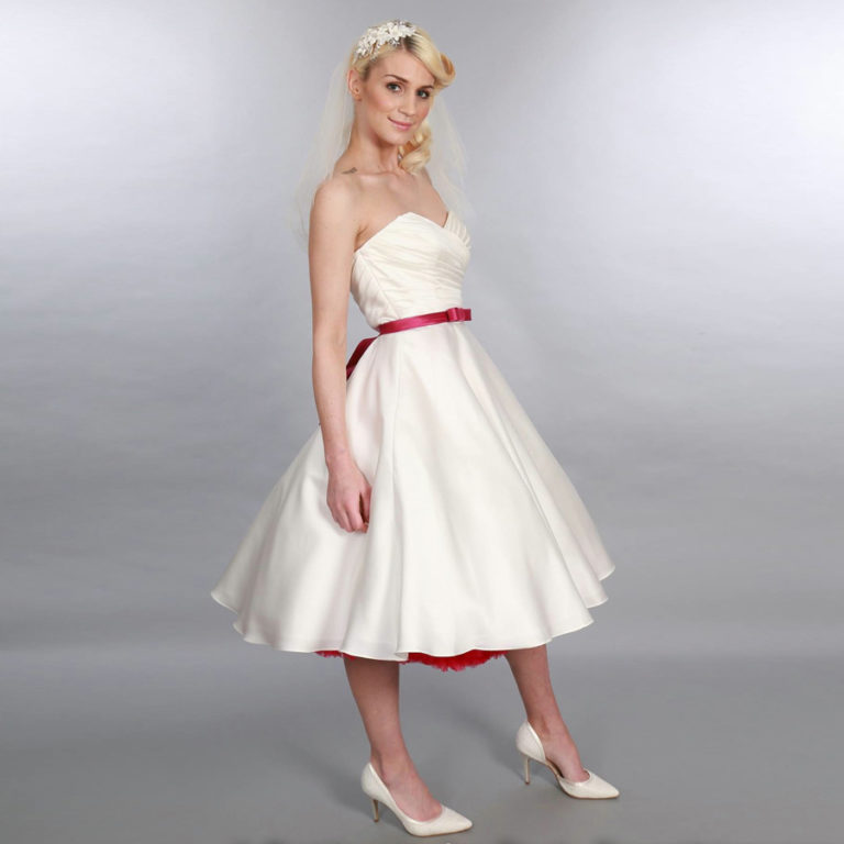 Doris Designs - Blush Red Petticoat Underskirt Model 4