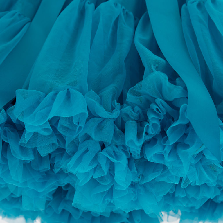 Doris Designs - Cornflower Blue Petticoat Underskirt Closeup