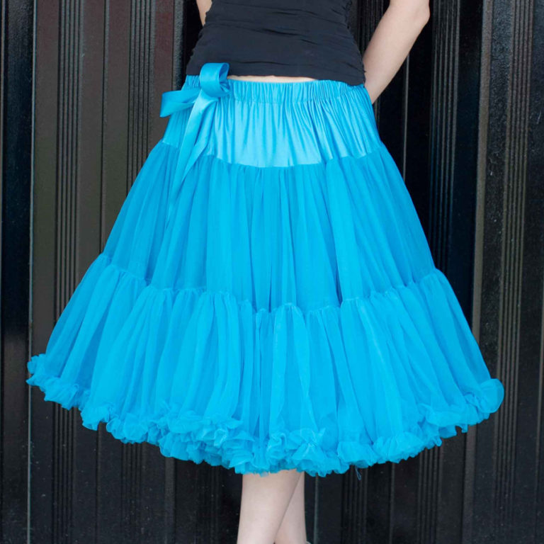 Doris Designs - Cornflower Blue Petticoat Underskirt Model