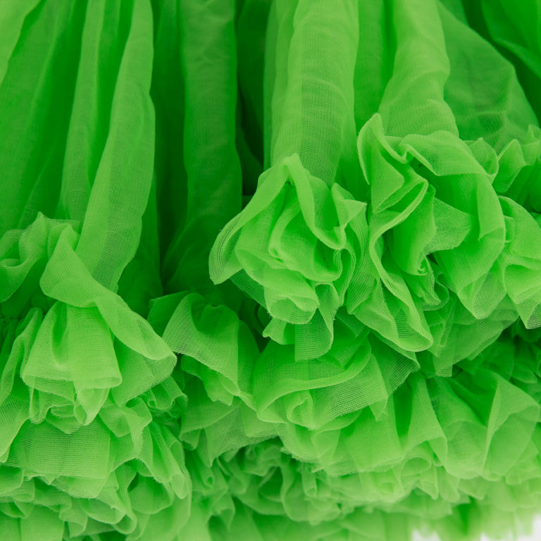 Doris Designs - Green Petticoat Underskirt Closeup