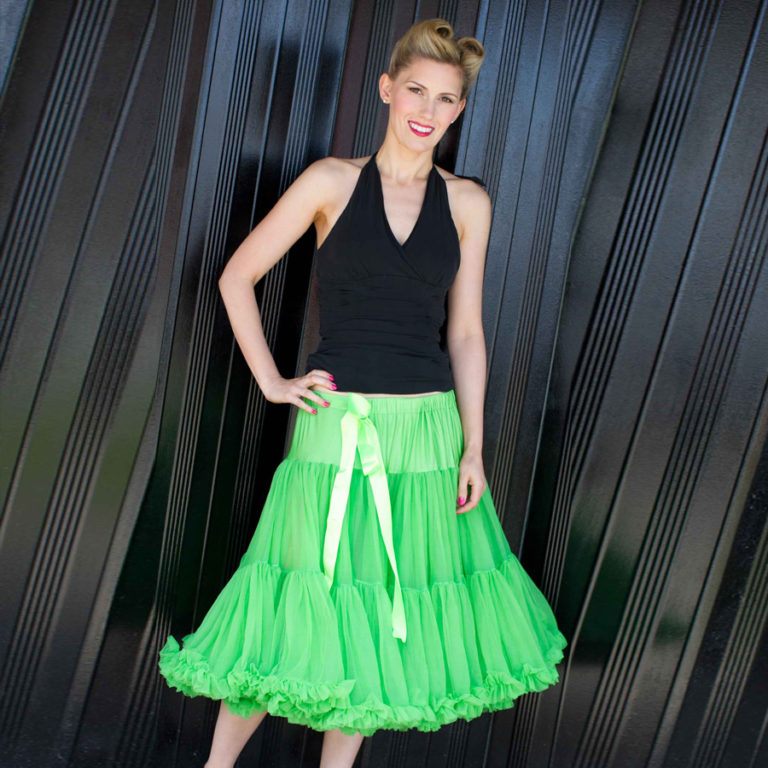 Doris Designs - Green Petticoat Underskirt Model