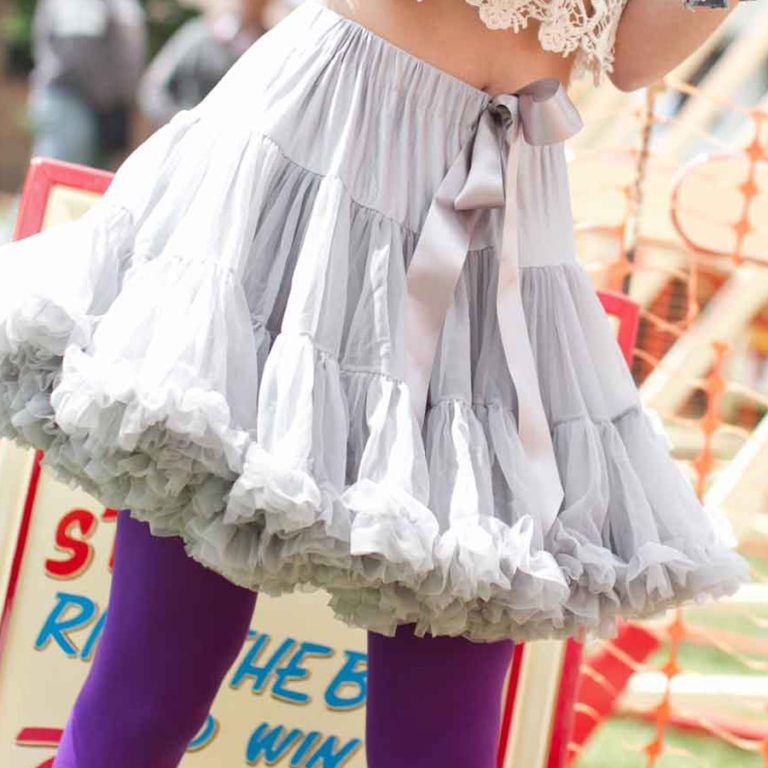 Doris Designs - Grey Petticoat Underskirt Model 2