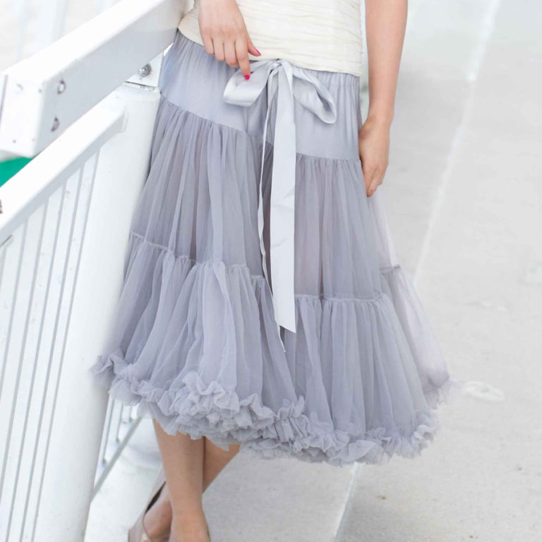 Doris Designs - Grey Petticoat Underskirt Model 3