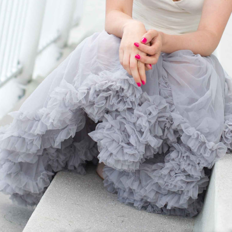 Doris Designs - Grey Petticoat Underskirt Model 4