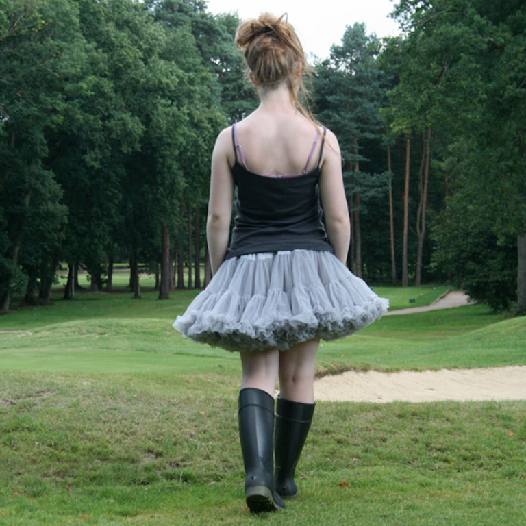 Doris Designs - Grey Petticoat Underskirt Model 6