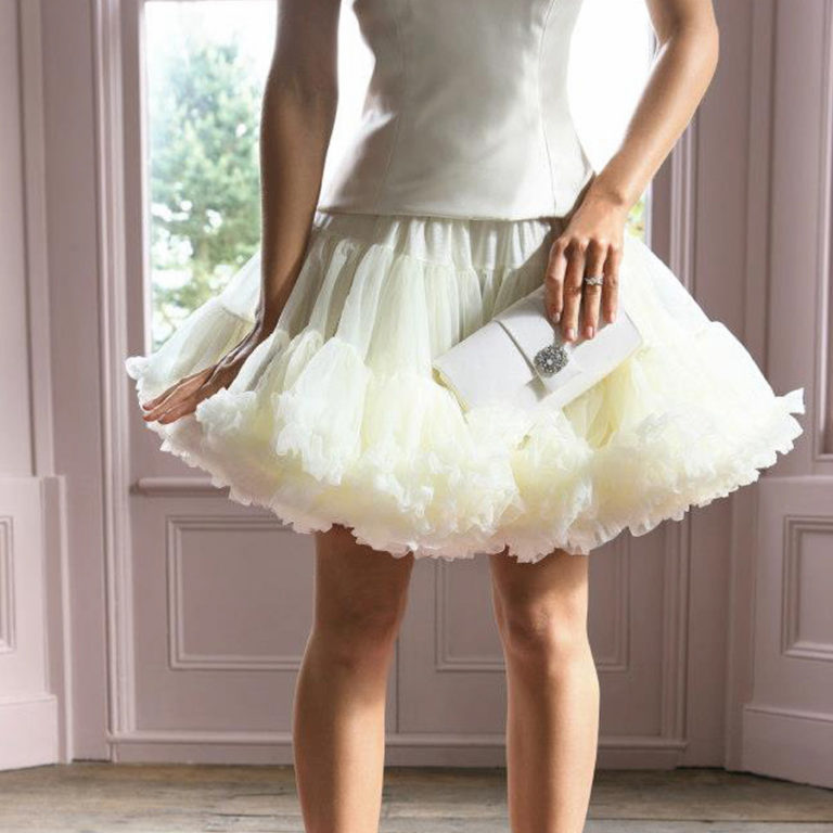 Doris Designs - Ivory Petticoat Underskirt Model 2
