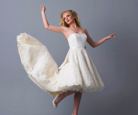 Doris Designs - Ivory Petticoat Underskirt Model