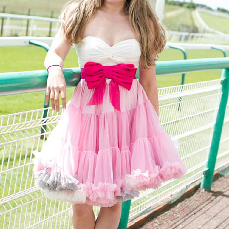 Doris Designs - Multi Molly Pink Petticoat Model