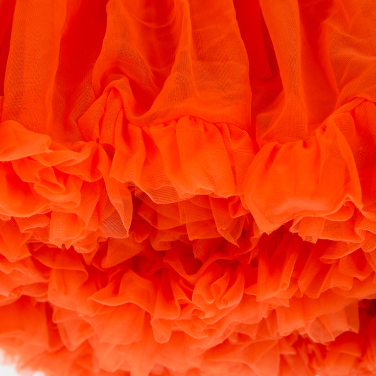 Doris Designs - Orange Petticoat Underskirt Closeup