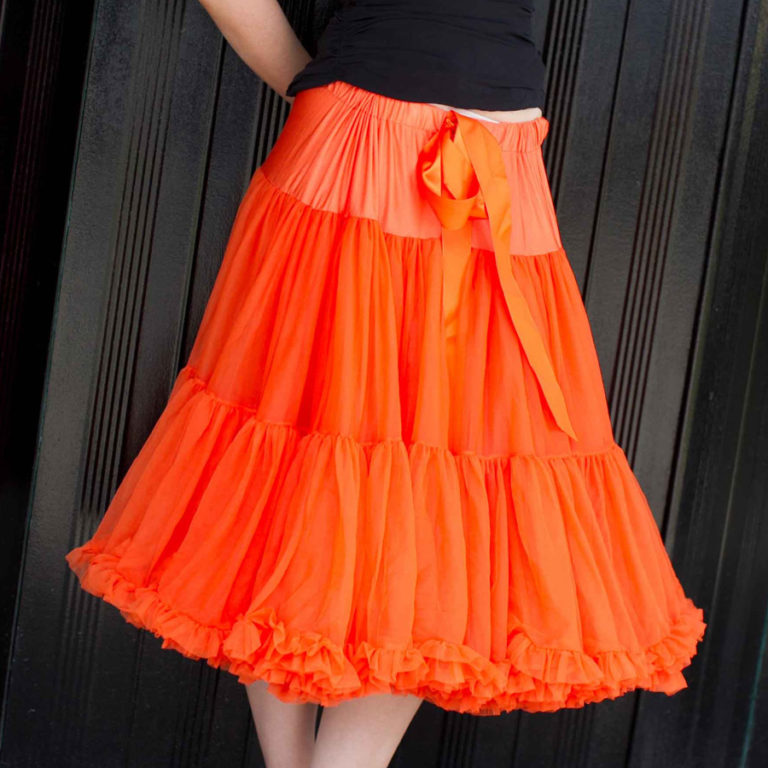 Doris Designs - Orange Petticoat Underskirt Model