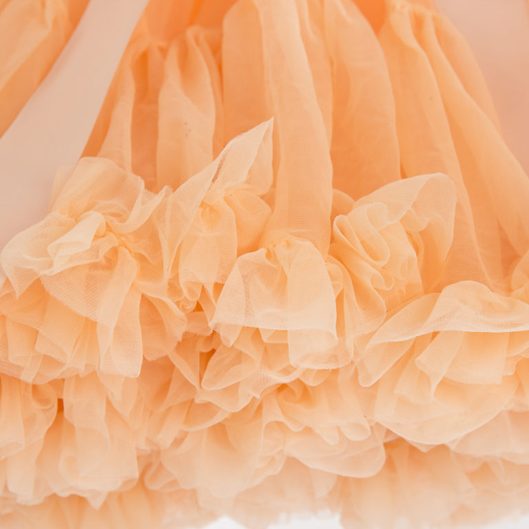 Doris Designs - Peach Petticoat Underskirt Closeup
