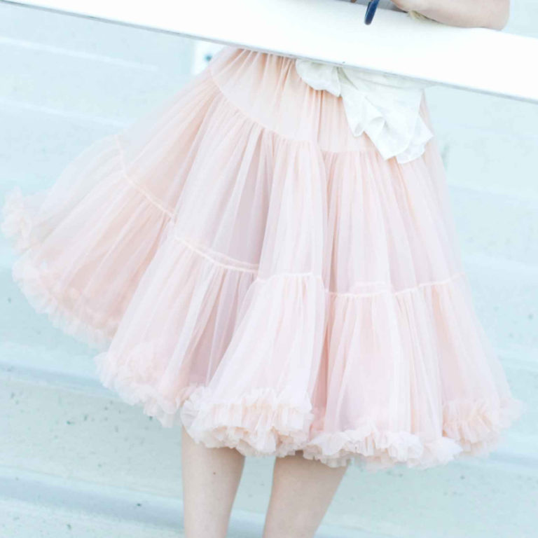 Doris Designs - Peach Petticoat Underskirt Model 2