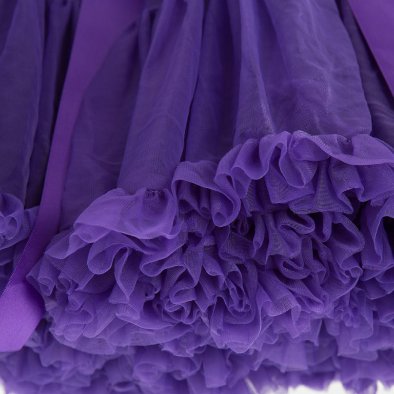 Doris Designs - Purple Petticoat Underskirt Closeup