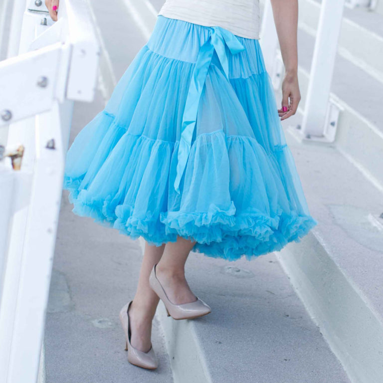 Doris Designs - Sky Blue Petticoat Underskirt Model