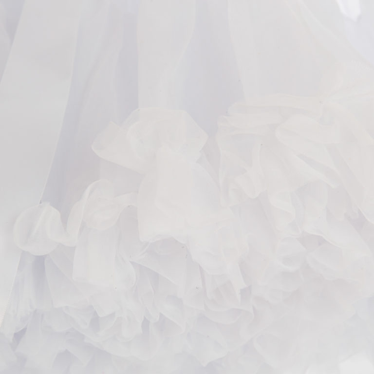 Doris Designs - White Petticoat Underskirt Closeup