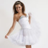 Doris Designs - White Petticoat Underskirt Model
