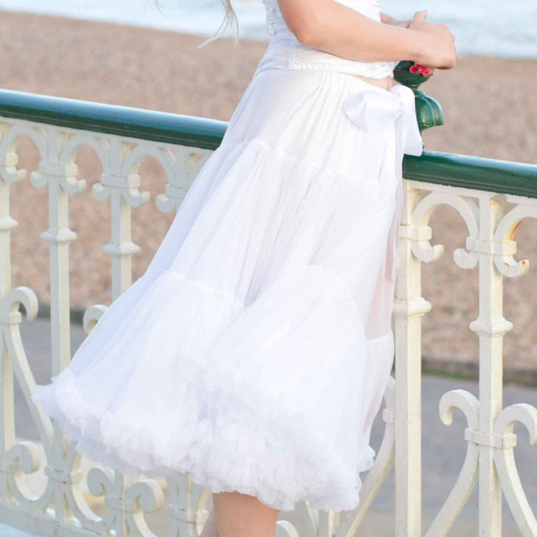 Doris Designs - White Petticoat Underskirt Model 4