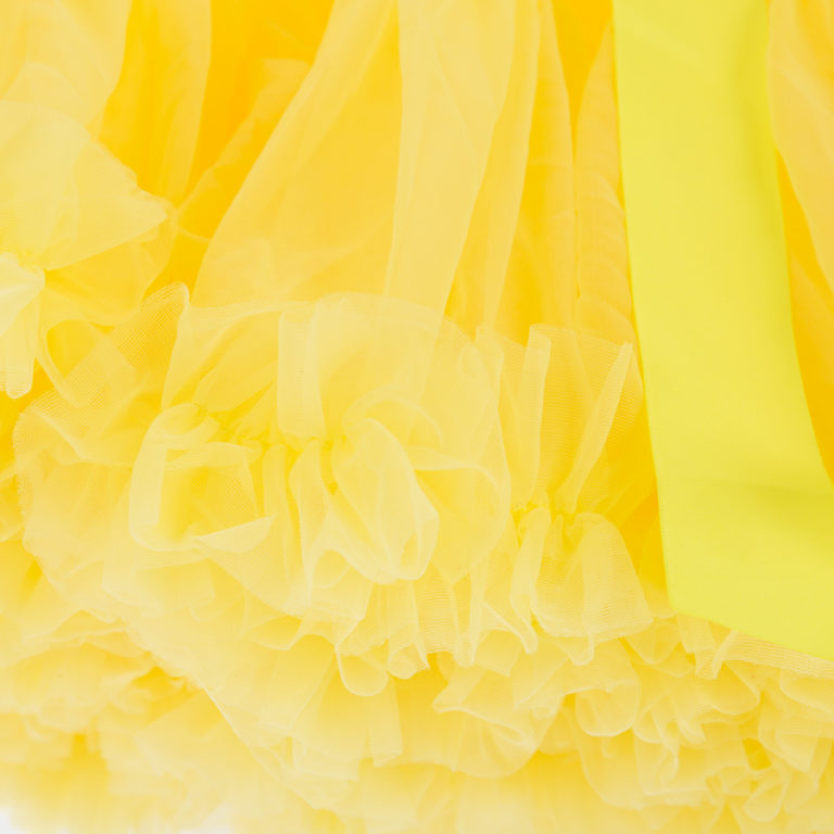 Doris Designs - Yellow Petticoat Underskirt Closeup