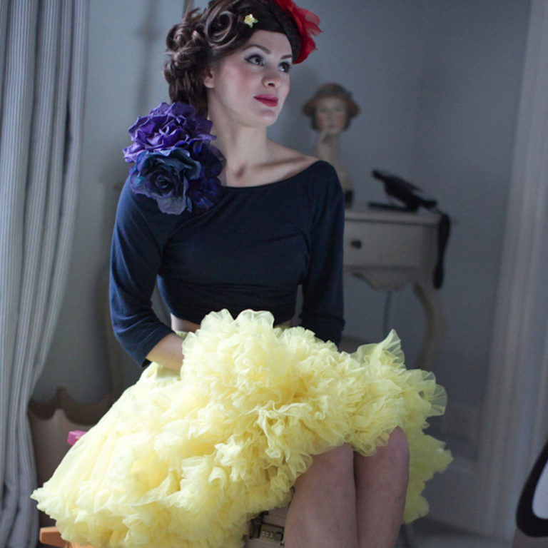 Doris Designs - Yellow Petticoat Underskirt Model 2
