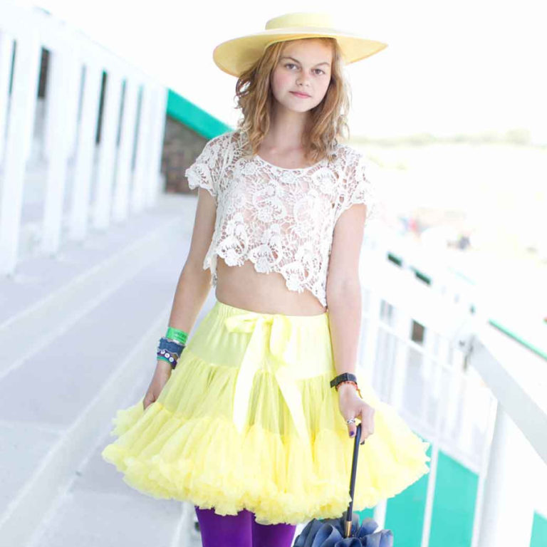 Doris Designs - Yellow Petticoat Underskirt Model 3