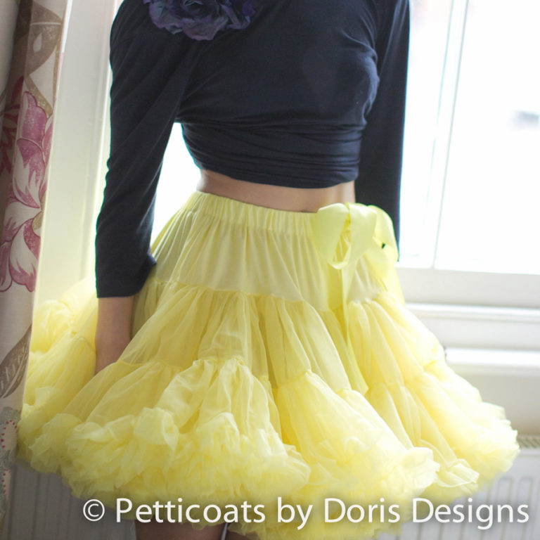 Doris Designs - Yellow Petticoat Underskirt Model