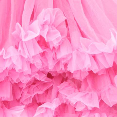 Bubblegum Pink Petticoat Close up