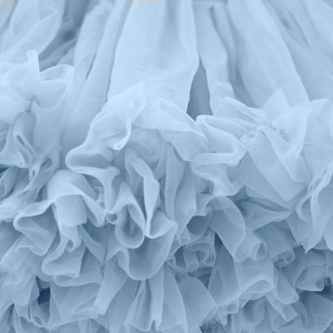 Pastel Blue Petticoat Close Up