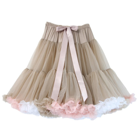 Light Mocha Multi-Coloured Petticoat