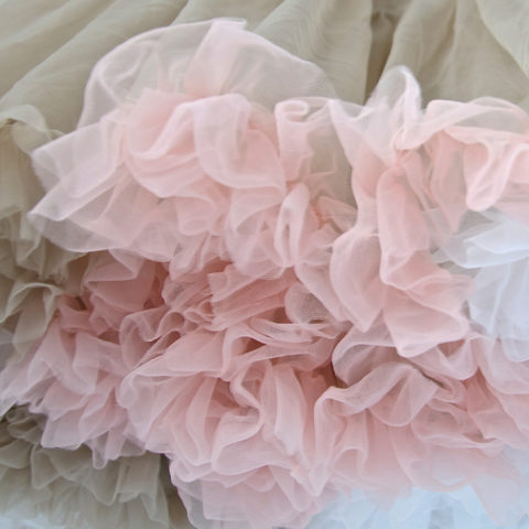 Light Mocha Multi Coloured Petticoat Close Up
