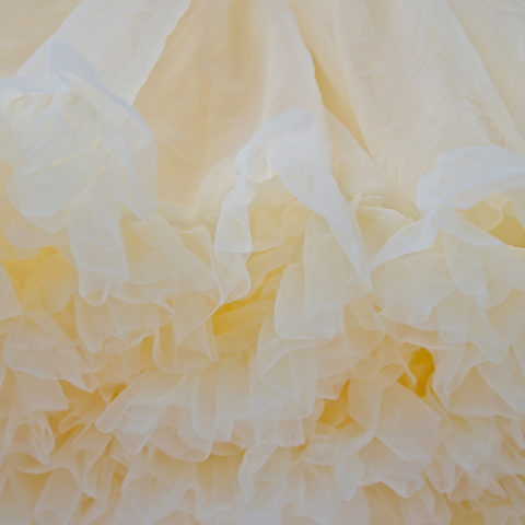 Pastel yellow Petticoat Close up
